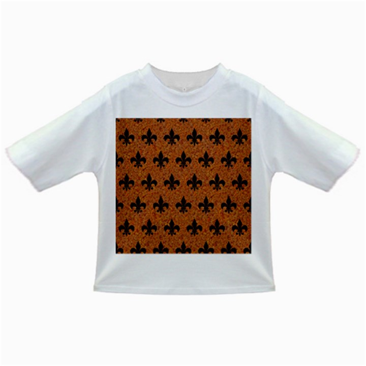 ROYAL1 BLACK MARBLE & RUSTED METAL (R) Infant/Toddler T-Shirts