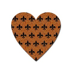 Royal1 Black Marble & Rusted Metal (r) Heart Magnet by trendistuff