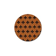 Royal1 Black Marble & Rusted Metal (r) Golf Ball Marker by trendistuff