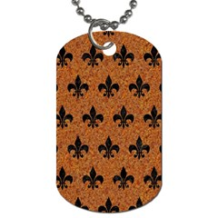 Royal1 Black Marble & Rusted Metal (r) Dog Tag (two Sides) by trendistuff