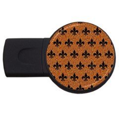 Royal1 Black Marble & Rusted Metal (r) Usb Flash Drive Round (2 Gb)