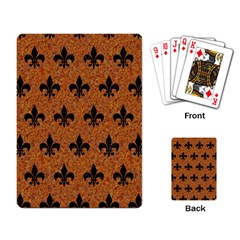 Royal1 Black Marble & Rusted Metal (r) Playing Card