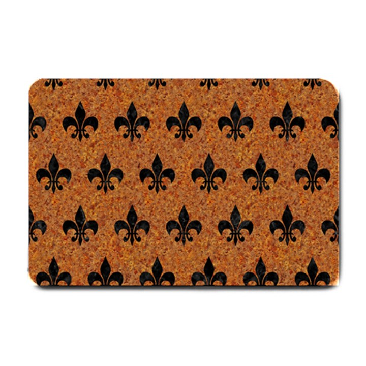 ROYAL1 BLACK MARBLE & RUSTED METAL (R) Small Doormat