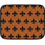 ROYAL1 BLACK MARBLE & RUSTED METAL (R) Double Sided Fleece Blanket (Mini)  35 x27 Blanket Back