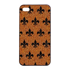 Royal1 Black Marble & Rusted Metal (r) Apple Iphone 4/4s Seamless Case (black) by trendistuff