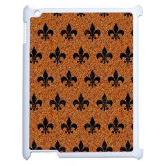 Royal1 Black Marble & Rusted Metal (r) Apple Ipad 2 Case (white) by trendistuff