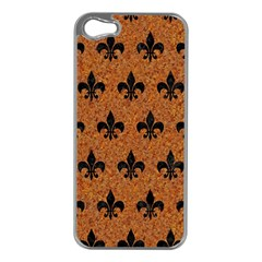 Royal1 Black Marble & Rusted Metal (r) Apple Iphone 5 Case (silver) by trendistuff