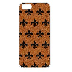 Royal1 Black Marble & Rusted Metal (r) Apple Iphone 5 Seamless Case (white) by trendistuff