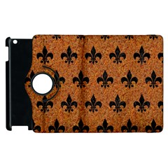 Royal1 Black Marble & Rusted Metal (r) Apple Ipad 2 Flip 360 Case by trendistuff