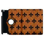 ROYAL1 BLACK MARBLE & RUSTED METAL (R) Apple iPad 3/4 Flip 360 Case Front