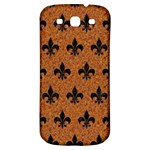 ROYAL1 BLACK MARBLE & RUSTED METAL (R) Samsung Galaxy S3 S III Classic Hardshell Back Case Front