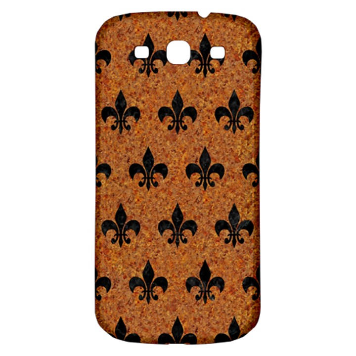 ROYAL1 BLACK MARBLE & RUSTED METAL (R) Samsung Galaxy S3 S III Classic Hardshell Back Case