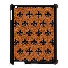 Royal1 Black Marble & Rusted Metal (r) Apple Ipad 3/4 Case (black) by trendistuff