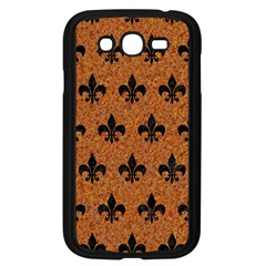 Royal1 Black Marble & Rusted Metal (r) Samsung Galaxy Grand Duos I9082 Case (black) by trendistuff