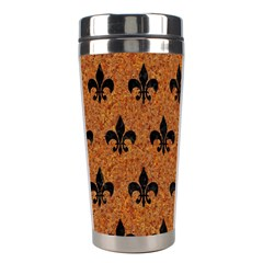 Royal1 Black Marble & Rusted Metal (r) Stainless Steel Travel Tumblers by trendistuff