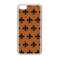Royal1 Black Marble & Rusted Metal (r) Apple Iphone 5c Seamless Case (white) by trendistuff
