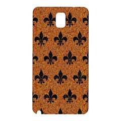 Royal1 Black Marble & Rusted Metal (r) Samsung Galaxy Note 3 N9005 Hardshell Back Case by trendistuff