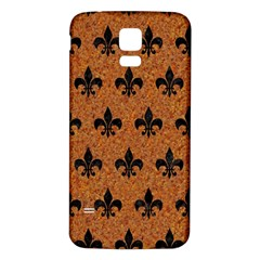 Royal1 Black Marble & Rusted Metal (r) Samsung Galaxy S5 Back Case (white) by trendistuff