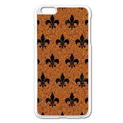 Royal1 Black Marble & Rusted Metal (r) Apple Iphone 6 Plus/6s Plus Enamel White Case by trendistuff