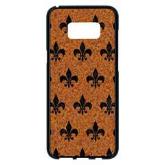 Royal1 Black Marble & Rusted Metal (r) Samsung Galaxy S8 Plus Black Seamless Case