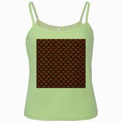 Scales1 Black Marble & Rusted Metal Green Spaghetti Tank