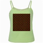 SCALES1 BLACK MARBLE & RUSTED METAL Green Spaghetti Tank Front