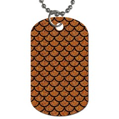 Scales1 Black Marble & Rusted Metal Dog Tag (two Sides) by trendistuff
