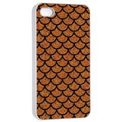 Scales1 Black Marble & Rusted Metal Apple Iphone 4/4s Seamless Case (white) by trendistuff