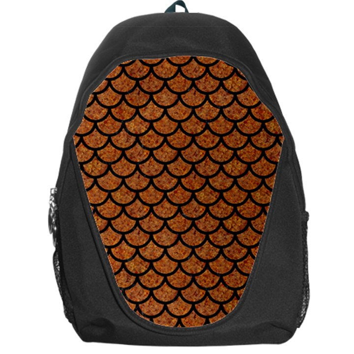 SCALES1 BLACK MARBLE & RUSTED METAL Backpack Bag