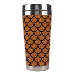 Scales1 Black Marble & Rusted Metal Stainless Steel Travel Tumblers by trendistuff