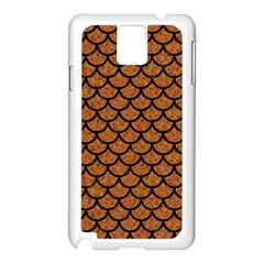 Scales1 Black Marble & Rusted Metal Samsung Galaxy Note 3 N9005 Case (white) by trendistuff