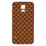 SCALES1 BLACK MARBLE & RUSTED METAL Samsung Galaxy S5 Back Case (White) Front