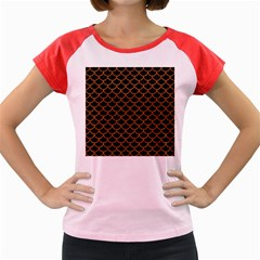 Scales1 Black Marble & Rusted Metal (r) Women s Cap Sleeve T Shirt