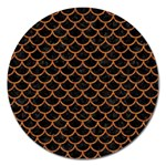 SCALES1 BLACK MARBLE & RUSTED METAL (R) Magnet 5  (Round) Front
