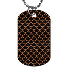 Scales1 Black Marble & Rusted Metal (r) Dog Tag (one Side) by trendistuff