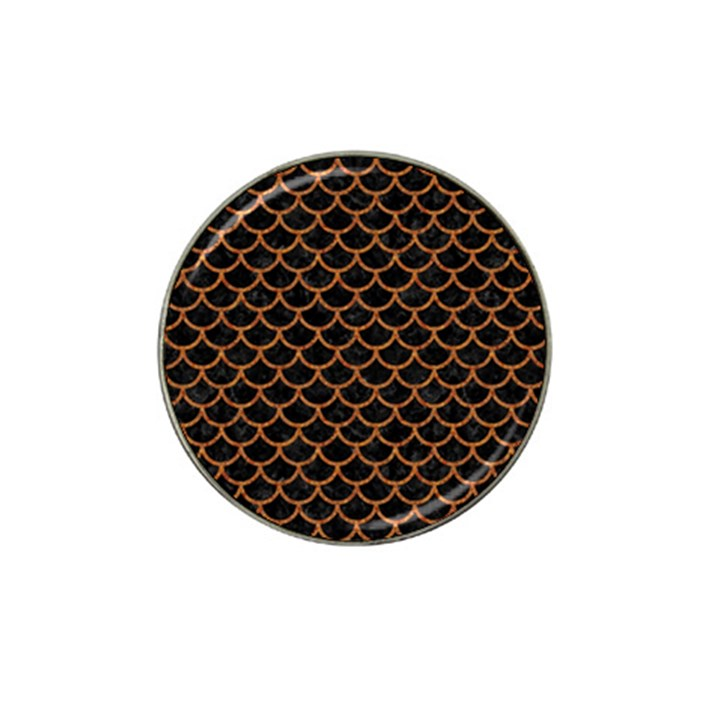 SCALES1 BLACK MARBLE & RUSTED METAL (R) Hat Clip Ball Marker
