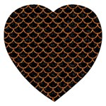 SCALES1 BLACK MARBLE & RUSTED METAL (R) Jigsaw Puzzle (Heart) Front