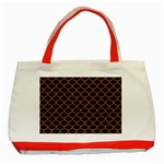 SCALES1 BLACK MARBLE & RUSTED METAL (R) Classic Tote Bag (Red) Front