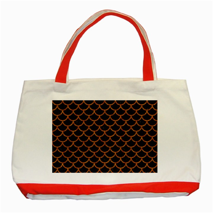 SCALES1 BLACK MARBLE & RUSTED METAL (R) Classic Tote Bag (Red)