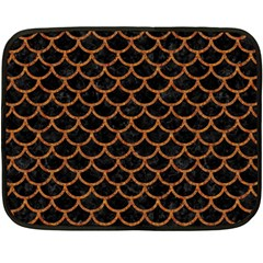 Scales1 Black Marble & Rusted Metal (r) Double Sided Fleece Blanket (mini)