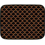 SCALES1 BLACK MARBLE & RUSTED METAL (R) Double Sided Fleece Blanket (Mini)  35 x27 Blanket Front