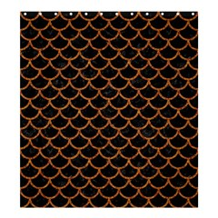 Scales1 Black Marble & Rusted Metal (r) Shower Curtain 66  X 72  (large)