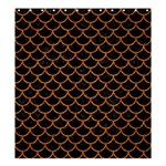 SCALES1 BLACK MARBLE & RUSTED METAL (R) Shower Curtain 66  x 72  (Large)  58.75 x64.8 Curtain