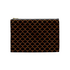 Scales1 Black Marble & Rusted Metal (r) Cosmetic Bag (medium)  by trendistuff