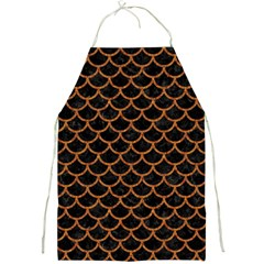 Scales1 Black Marble & Rusted Metal (r) Full Print Aprons