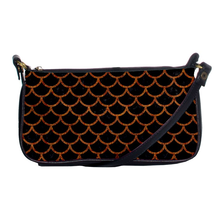SCALES1 BLACK MARBLE & RUSTED METAL (R) Shoulder Clutch Bags