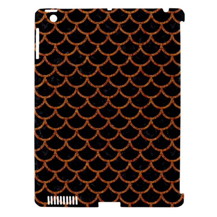 SCALES1 BLACK MARBLE & RUSTED METAL (R) Apple iPad 3/4 Hardshell Case (Compatible with Smart Cover)