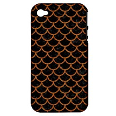 Scales1 Black Marble & Rusted Metal (r) Apple Iphone 4/4s Hardshell Case (pc+silicone) by trendistuff