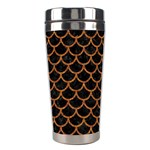 SCALES1 BLACK MARBLE & RUSTED METAL (R) Stainless Steel Travel Tumblers Left