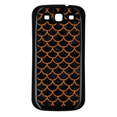 Scales1 Black Marble & Rusted Metal (r) Samsung Galaxy S3 Back Case (black) by trendistuff